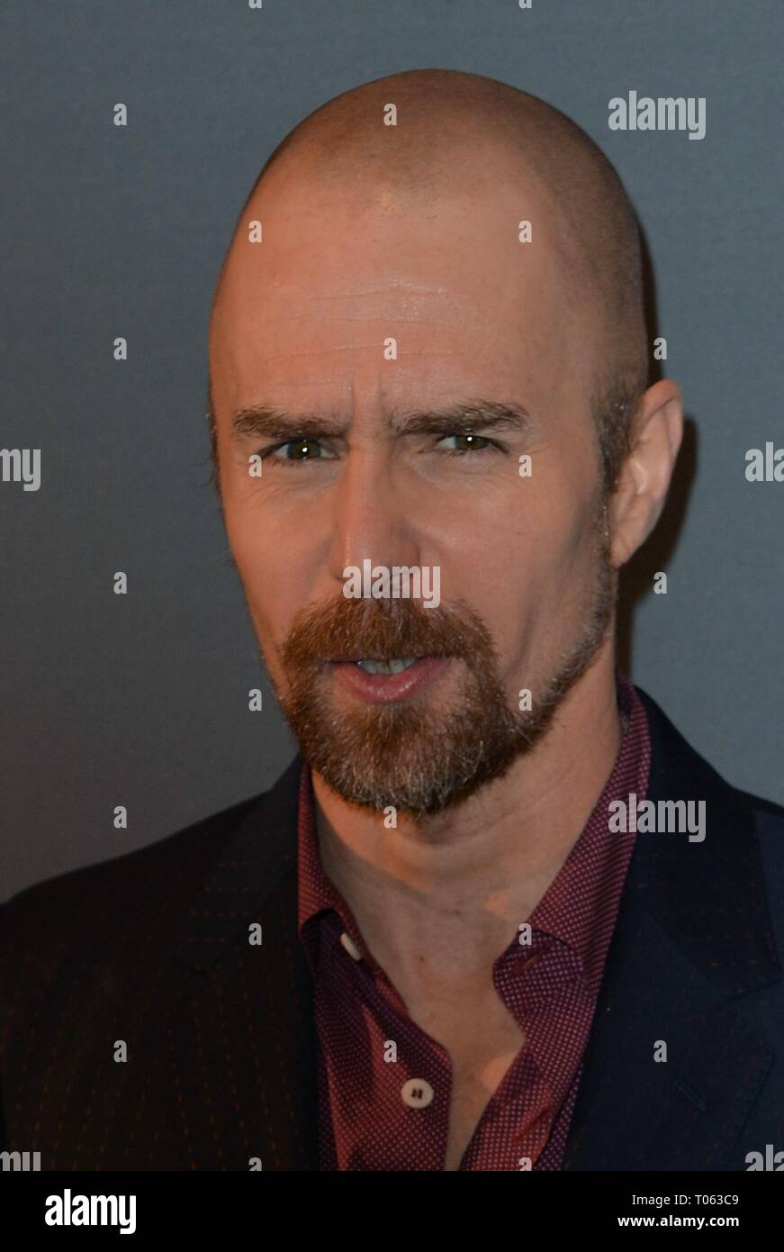 New York, USA. 17th Mar, 2019. Sam Rockwell at arrivals for THE BEST OF ENEMIES Photo Call, The Whitby Hotel Theater, New York, NY March 17, 2019. Credit: Kristin Callahan/Everett Collection/Alamy Live News - Stock Image
