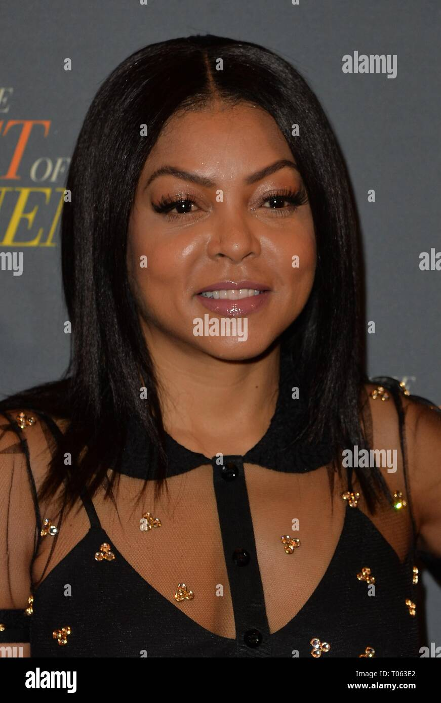 New York, USA. 17th Mar, 2019. Taraji P. Henson at arrivals for THE BEST OF ENEMIES Photo Call, The Whitby Hotel Theater, New York, NY March 17, 2019. Credit: Kristin Callahan/Everett Collection/Alamy Live News - Stock Image