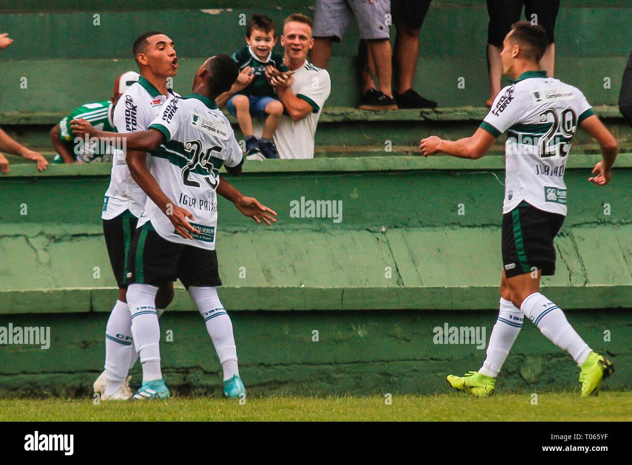 PR - Curitiba - 03/17/2019 - Paranaense 2019, Coritiba x Cascavel FC - Igor  Jesus Coritiba player celebrates