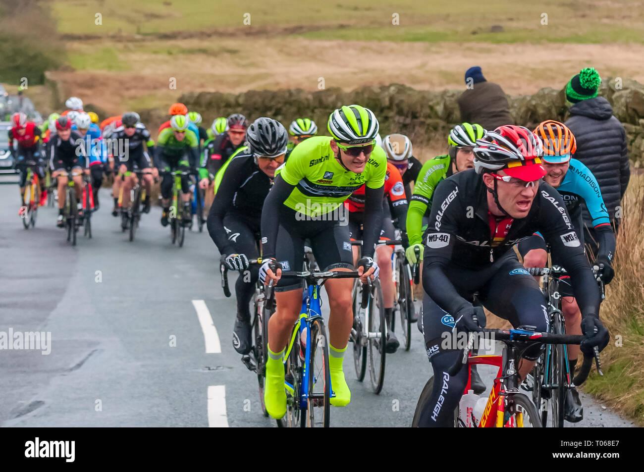 Chorley Cycle Grand Prix 2016 at Rivington. - Stock Image