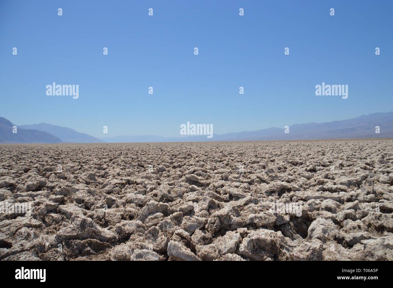 salty desert in Death Valley - Stock Image