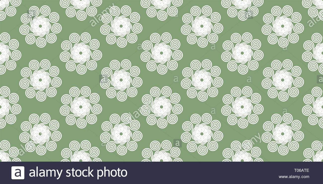 Creative seamless abstract spirograph flower vector illustration background from spirals - Stock Image