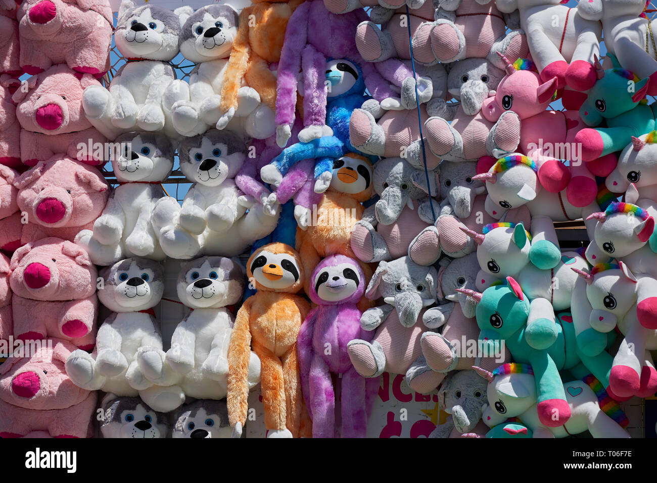 Super Soft Stuffed Animals For Babies, Prize Stuffed Animals Carnival Game High Resolution Stock Photography And Images Alamy