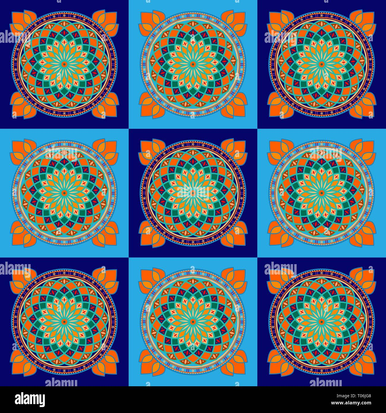 Tunisian weaving is a traditional form of embroidery that Tunisian women weave by hand. The template brings good luck and wealth. - Stock Vector
