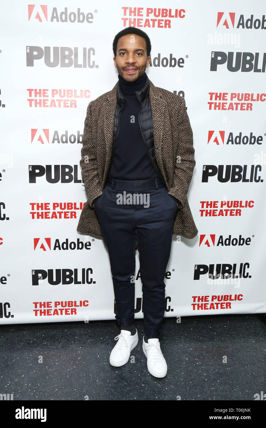 c43d907f Opening night party for Sea Wall / A Life at the Public Theater - Arrivals.  Featuring: Andre Holland Where: New York, New York, United States When: 14  Feb ...