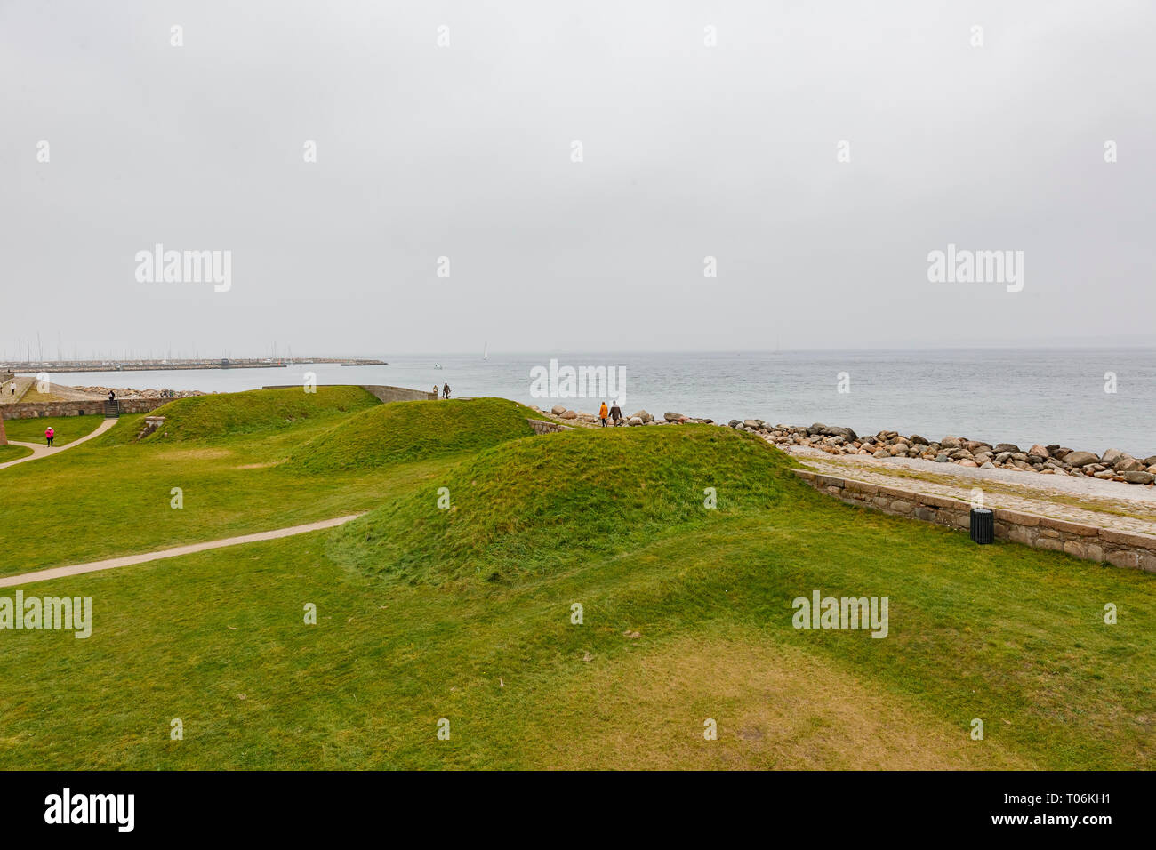 Exterior view of the famous Kronborg Castle at Denmark Stock Photo