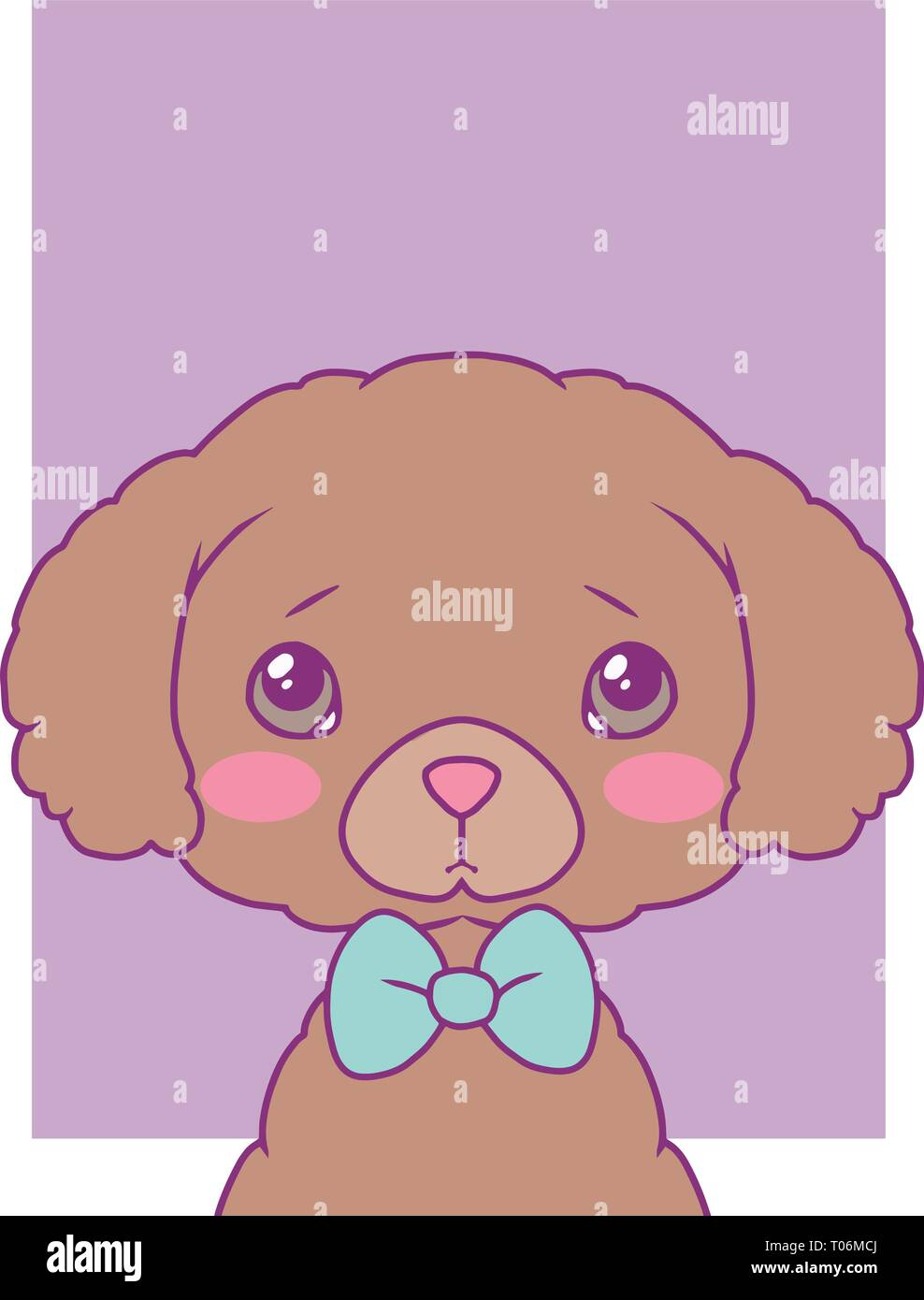 Cute Cartoon Style Vector Art Print Motive With Pastel