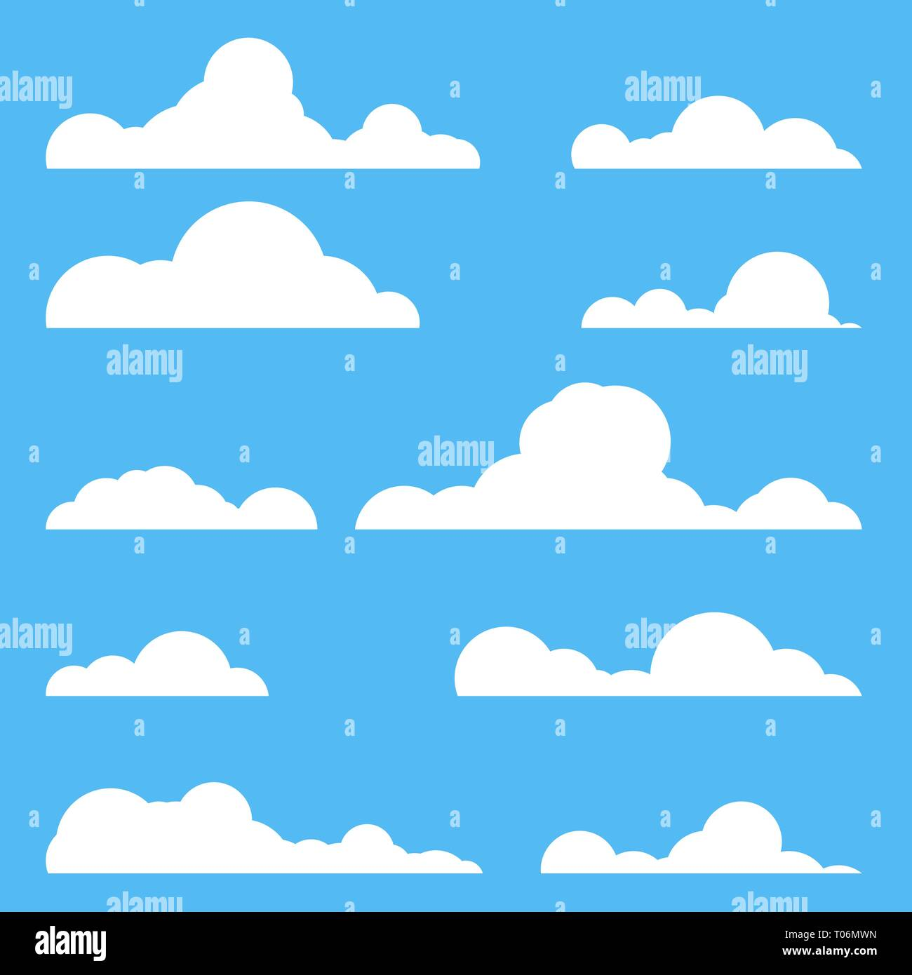 Set of clouds - Stock Image