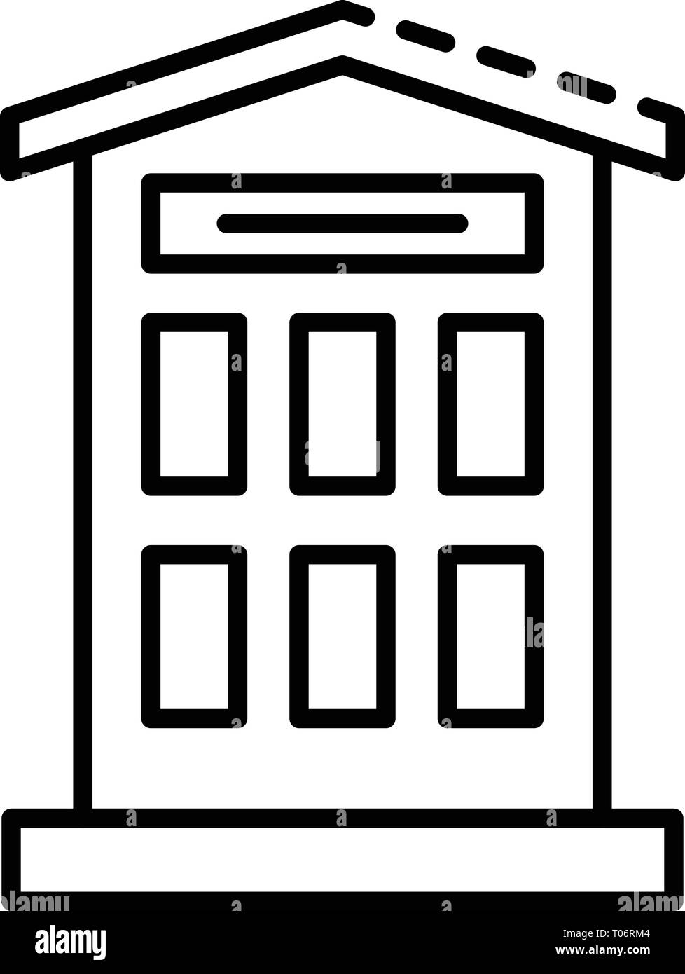 City pet hotel icon, outline style - Stock Image