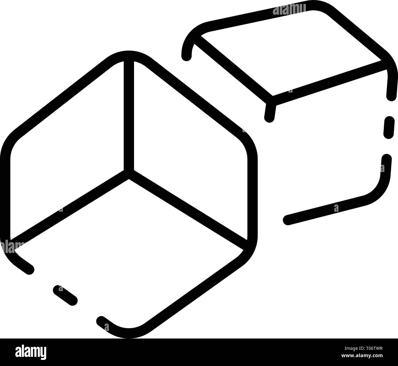 Cube toy icon, outline style Stock Vector Art & Illustration