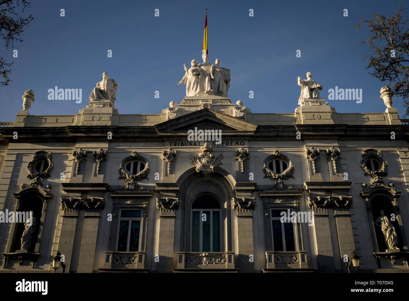Madrid, Spain  16th Mar, 2019  Spanish Supreme Court building