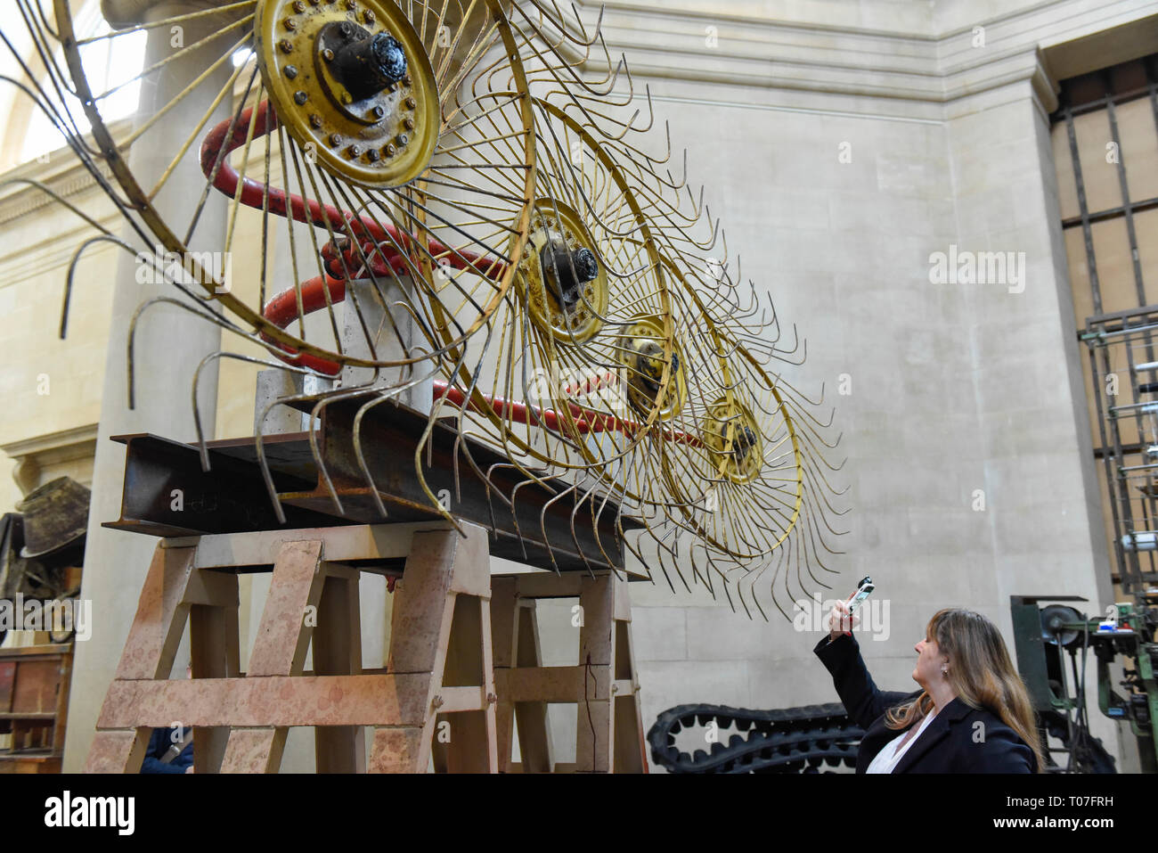 London, UK. 18th Mar, 2019. Preview of 'The Asset Strippers', a major new work by artist Mike Nelson, which has been created for the Tate Britain Commission, supported by Sotheby's, inviting artists to create new artworks for the Duveen Galleries. The artist has scoured online auctions of company liquidations and salvage yards for objects representing the decline of British industry and infrastructure. The exhibition runs 18 March to 6 October 2019 at Tate Britain. Credit: Stephen Chung/Alamy Live News - Stock Image