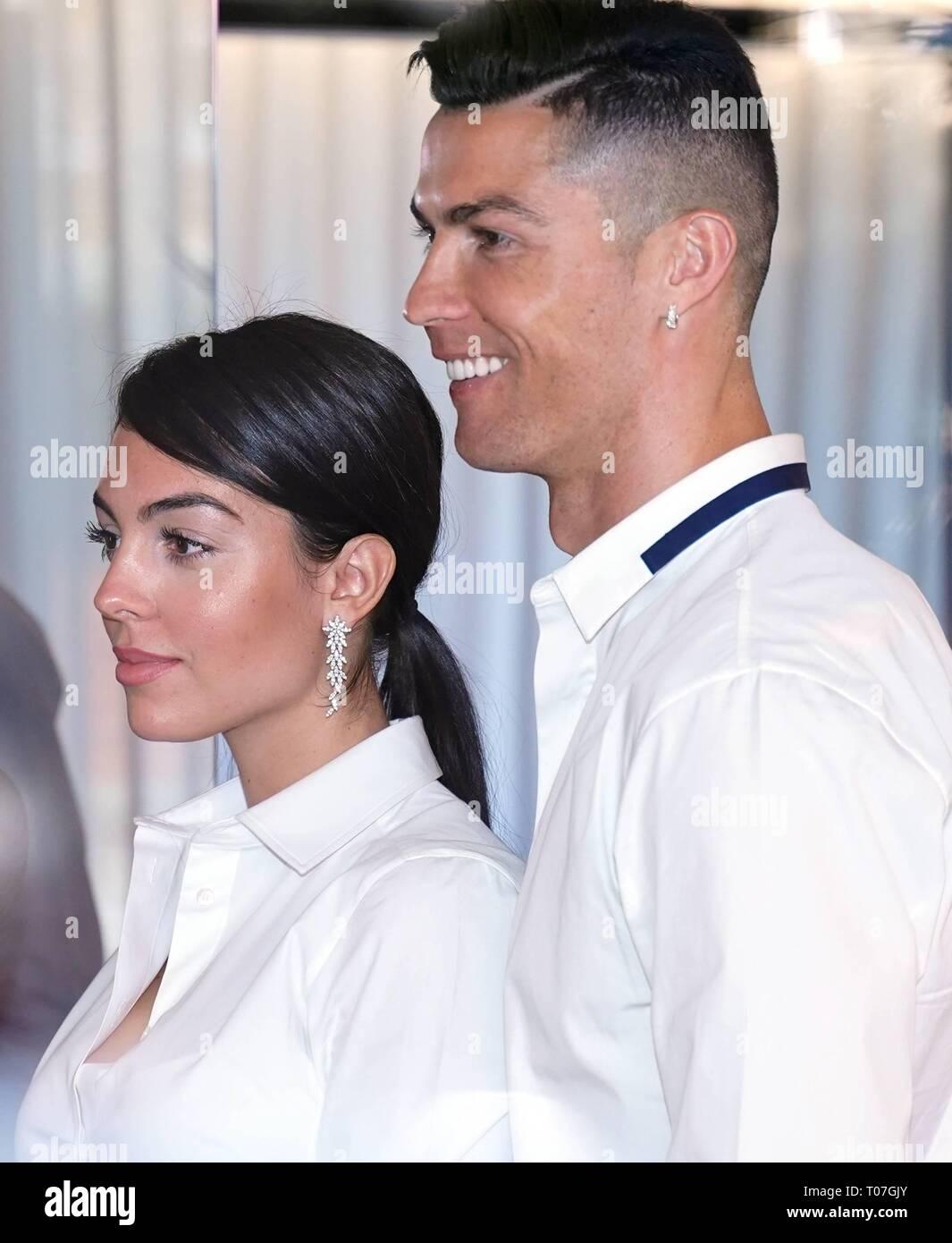 Madrid Spain 18th Mar 2019 Cristiano Ronaldo And Georgina