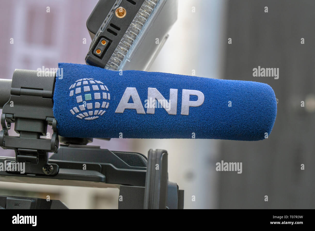 Close Up Of A ANP Microphone At Amsterdam The Netherlands 2019 - Stock Image