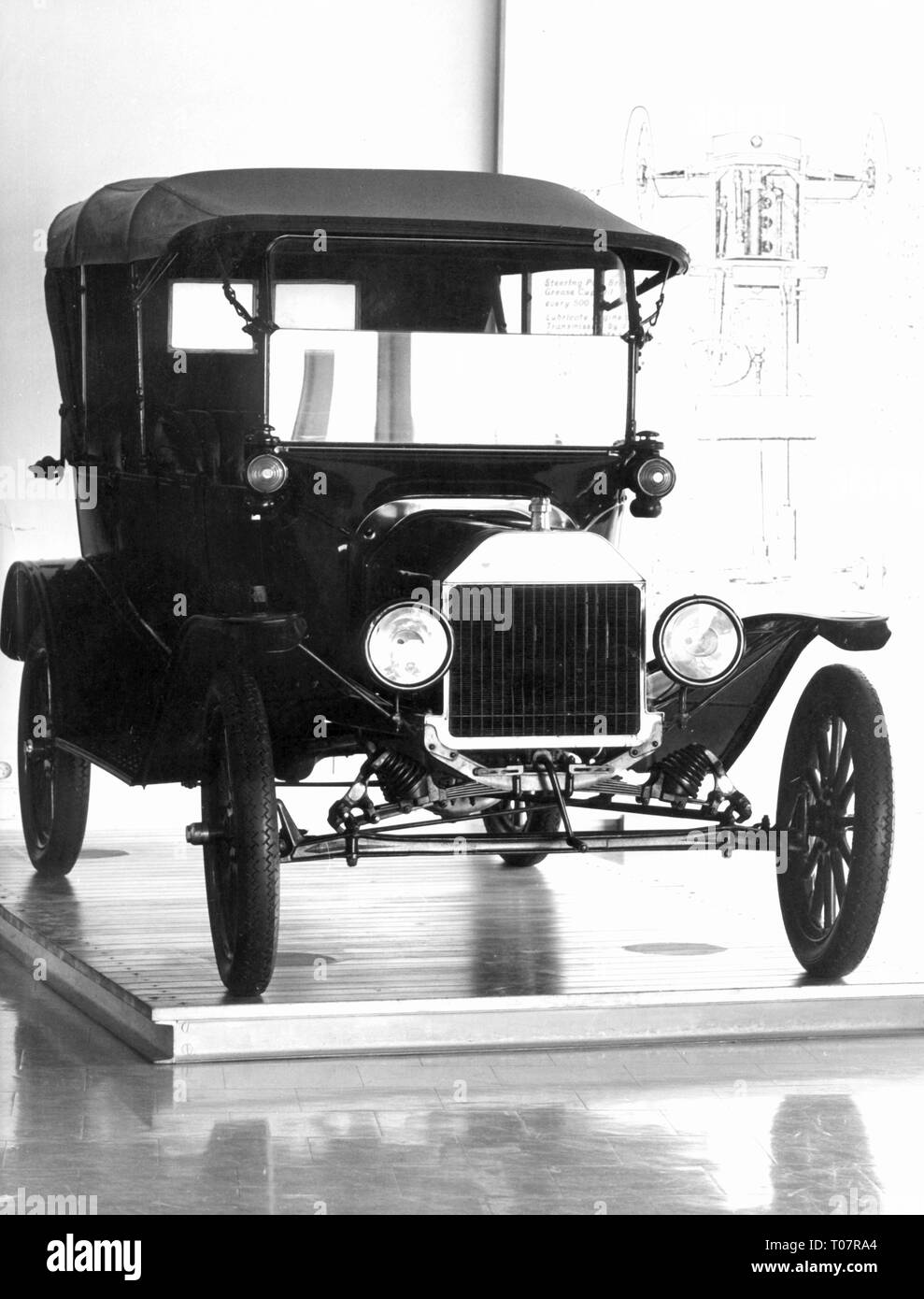 transport / transportation, cars, vehicle variants, Ford Model T 1916, view from ahead, Automobile Museum Torino, 1960s, Additional-Rights-Clearance-Info-Not-Available - Stock Image