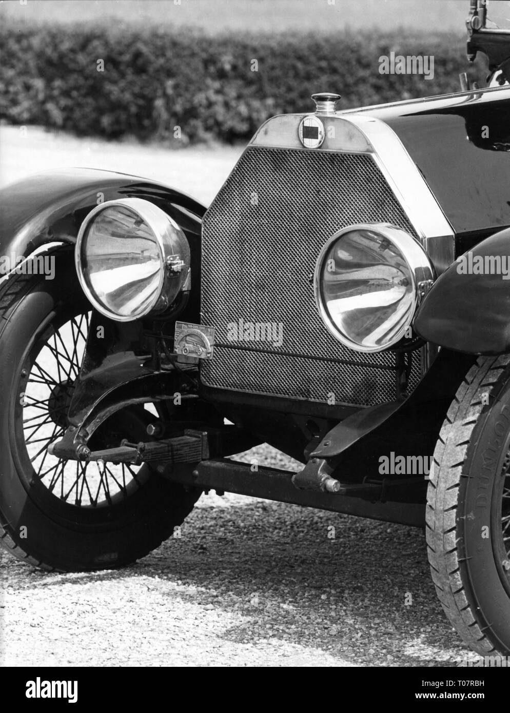 transport / transportation, car, vehicle variants, Lancia Theta, year of construction: 1914, detail, frontside, automobile museum Torino, Italy, 1960s, Additional-Rights-Clearance-Info-Not-Available - Stock Image