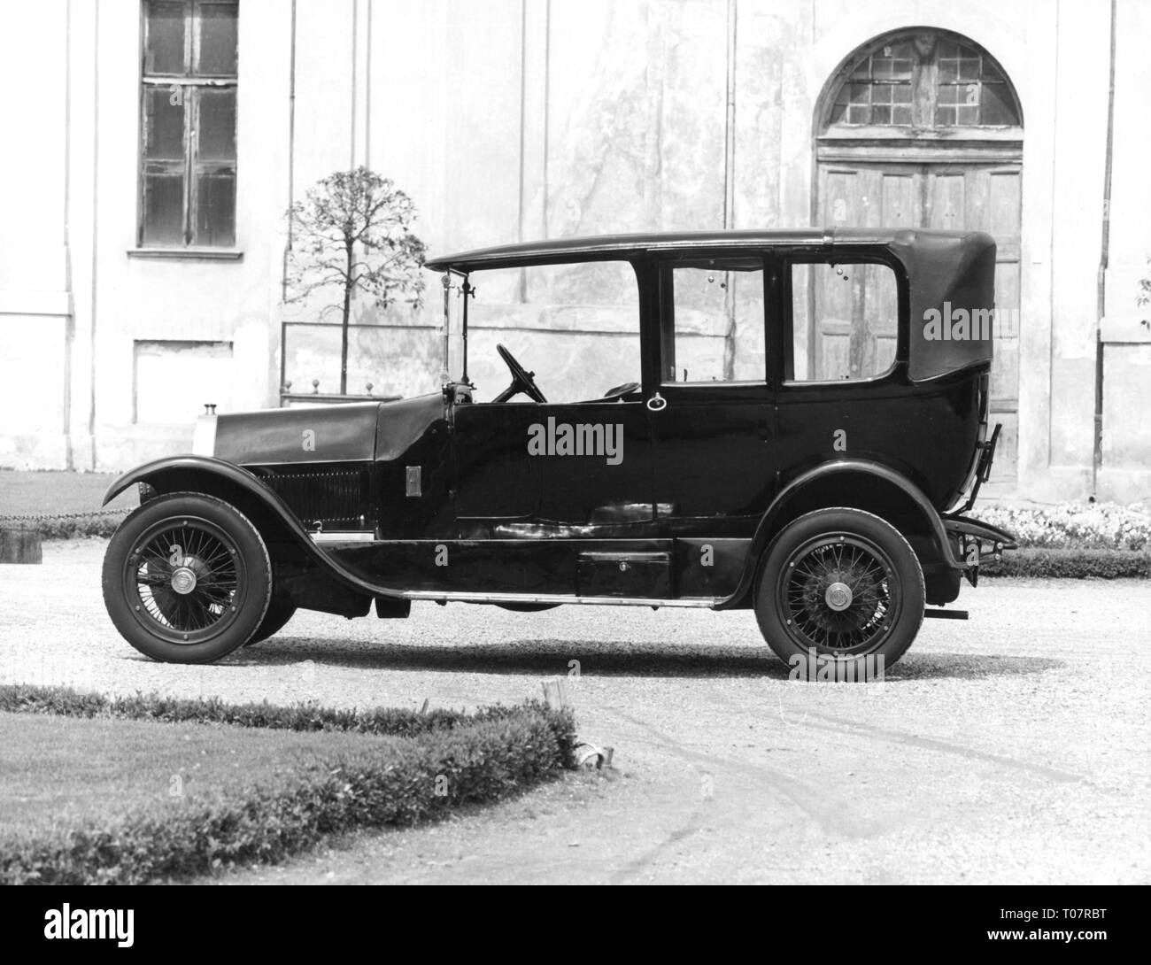 transport / transportation, car, vehicle variants, Lancia Theta, year of construction: 1914, view from left, automobile museum Torino, Italy, 1960s, Additional-Rights-Clearance-Info-Not-Available - Stock Image