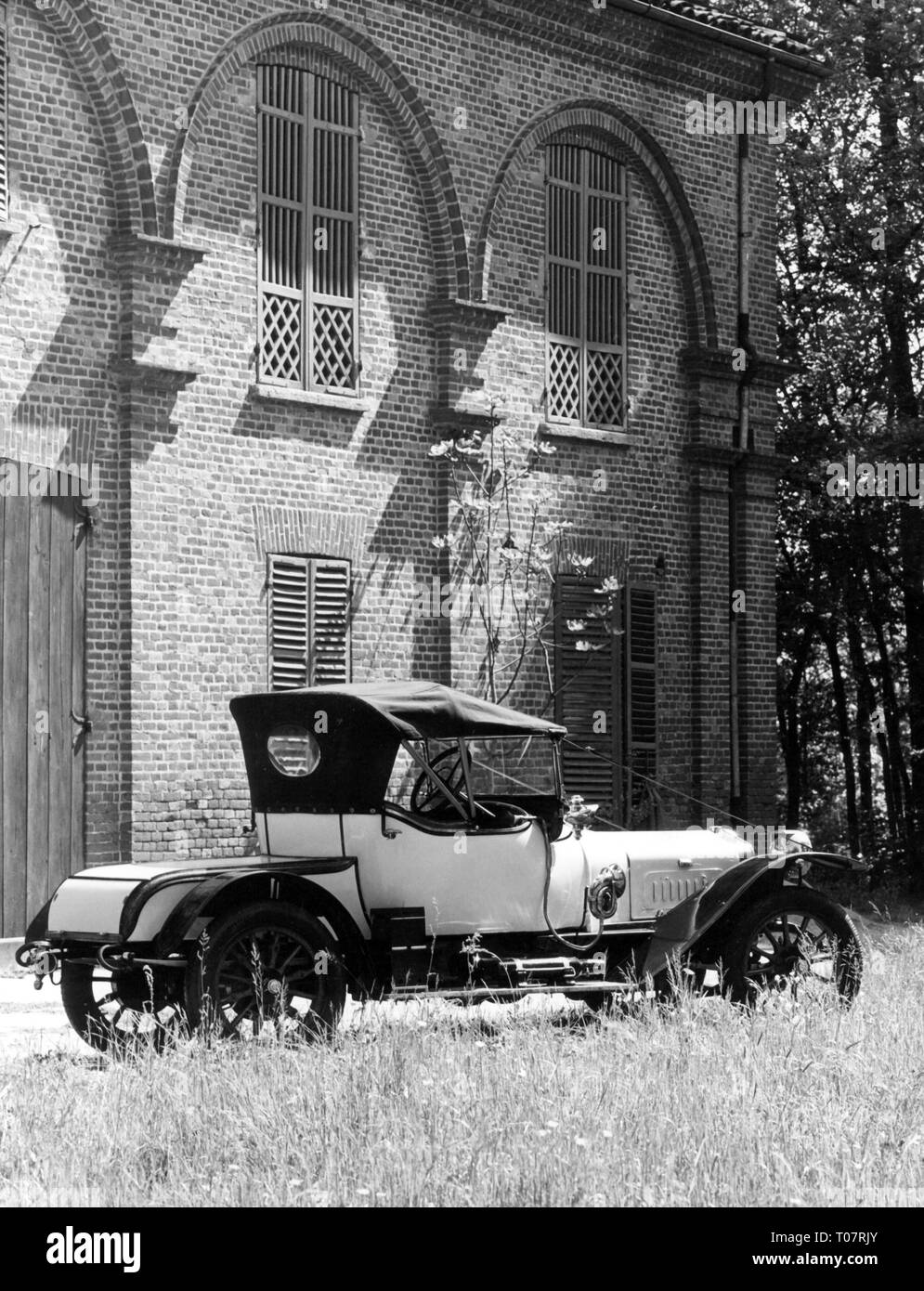 transport / transportation, car, vehicle variants, Delage AB 8, year of construction: 1913, view from  right behind, automobile museum Torino, Italy, 1960s, Additional-Rights-Clearance-Info-Not-Available - Stock Image
