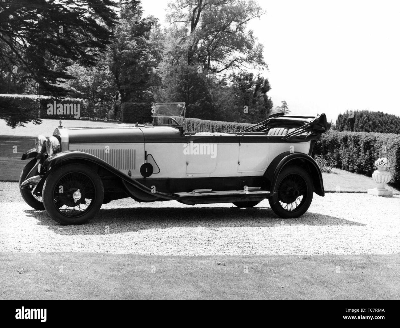 transport / transportation, car, vehicle variants, Isotta Fraschini Tipo 8, year of construction: 1920, view from left, automobile museum Torino, Italy, 1960s, Additional-Rights-Clearance-Info-Not-Available - Stock Image