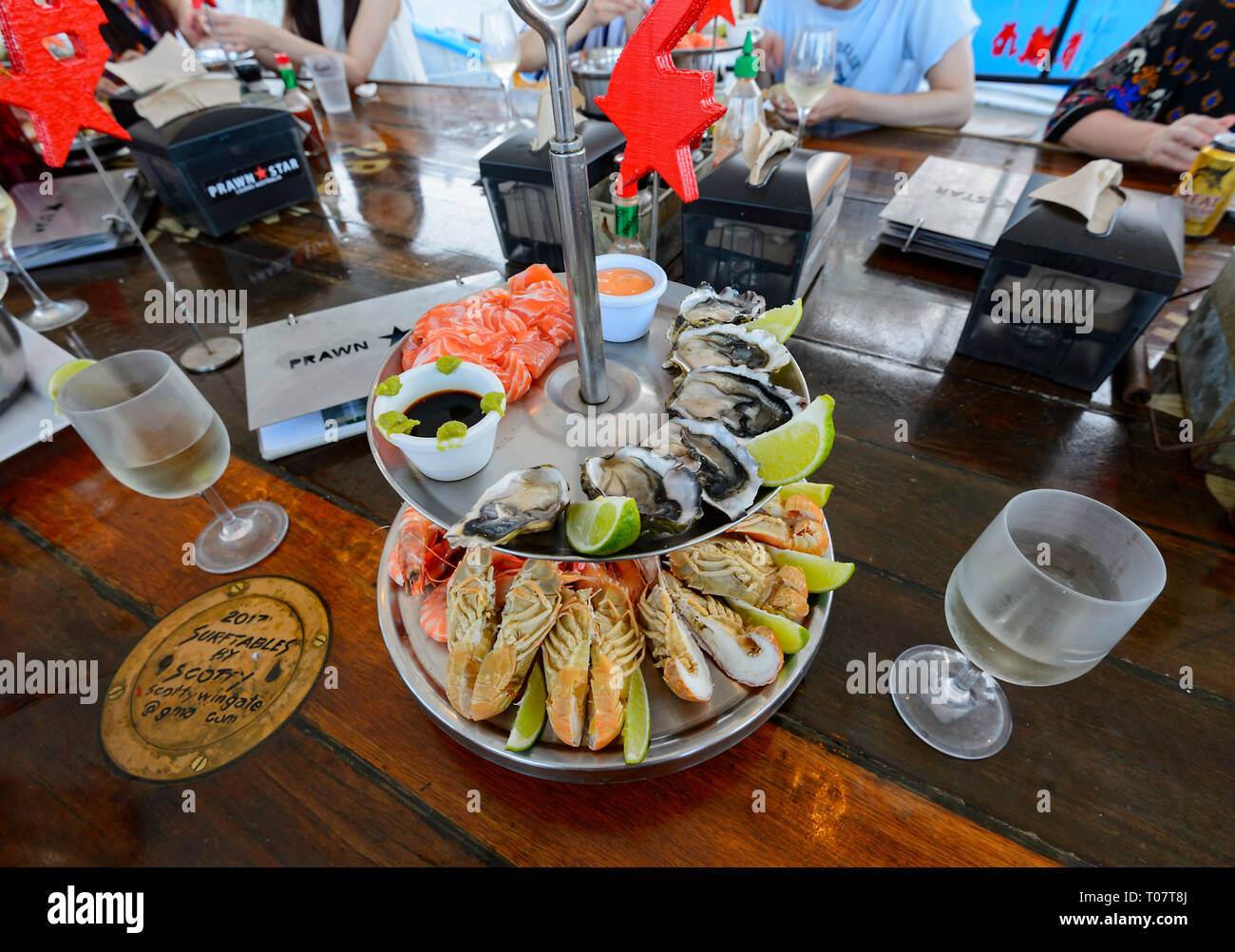 Seafood Platter Served On Board The Prawn Star A Popular Trawler Bar And Restaurant Cairns Far North Queensland Fnq Qld Australia Stock Photo Alamy