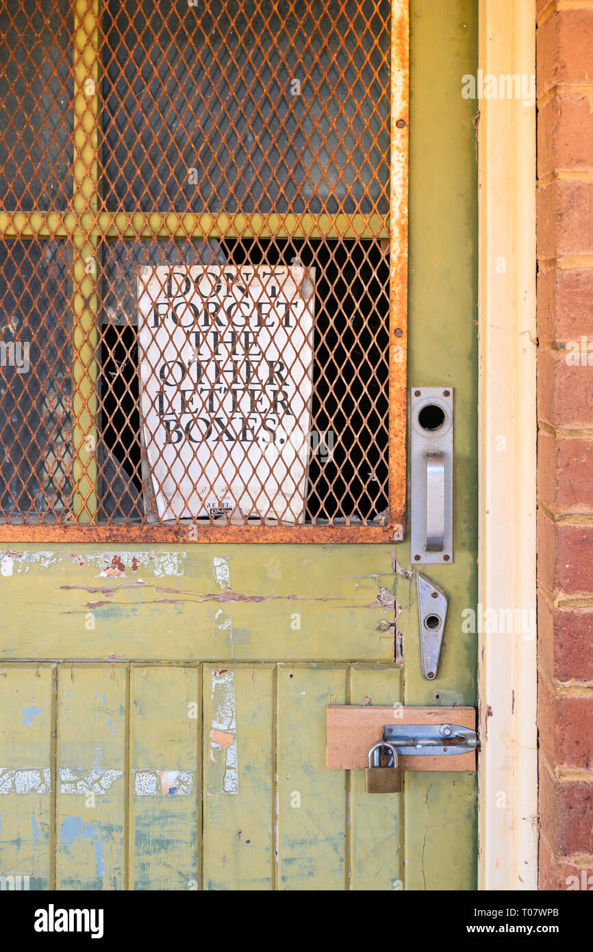 Rawlinna Post Office, Rawlinna, Western Australia, Australia Stock Photo