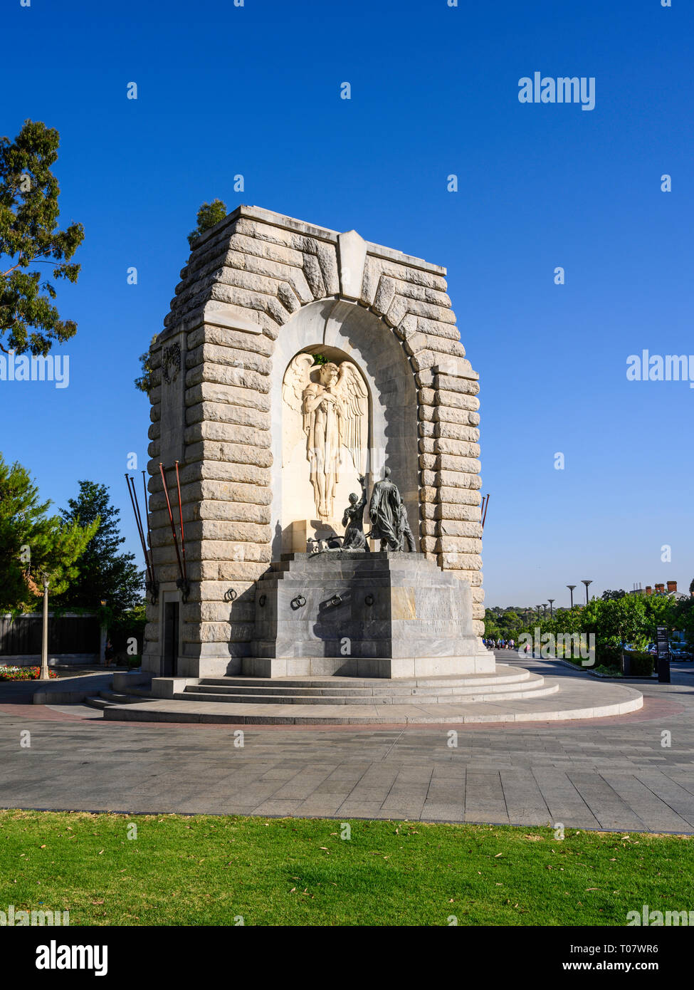 The National War Memorial is a monument in North Terrace, Adelaide, South Australia, commemorating those who served in the First World War. Stock Photo