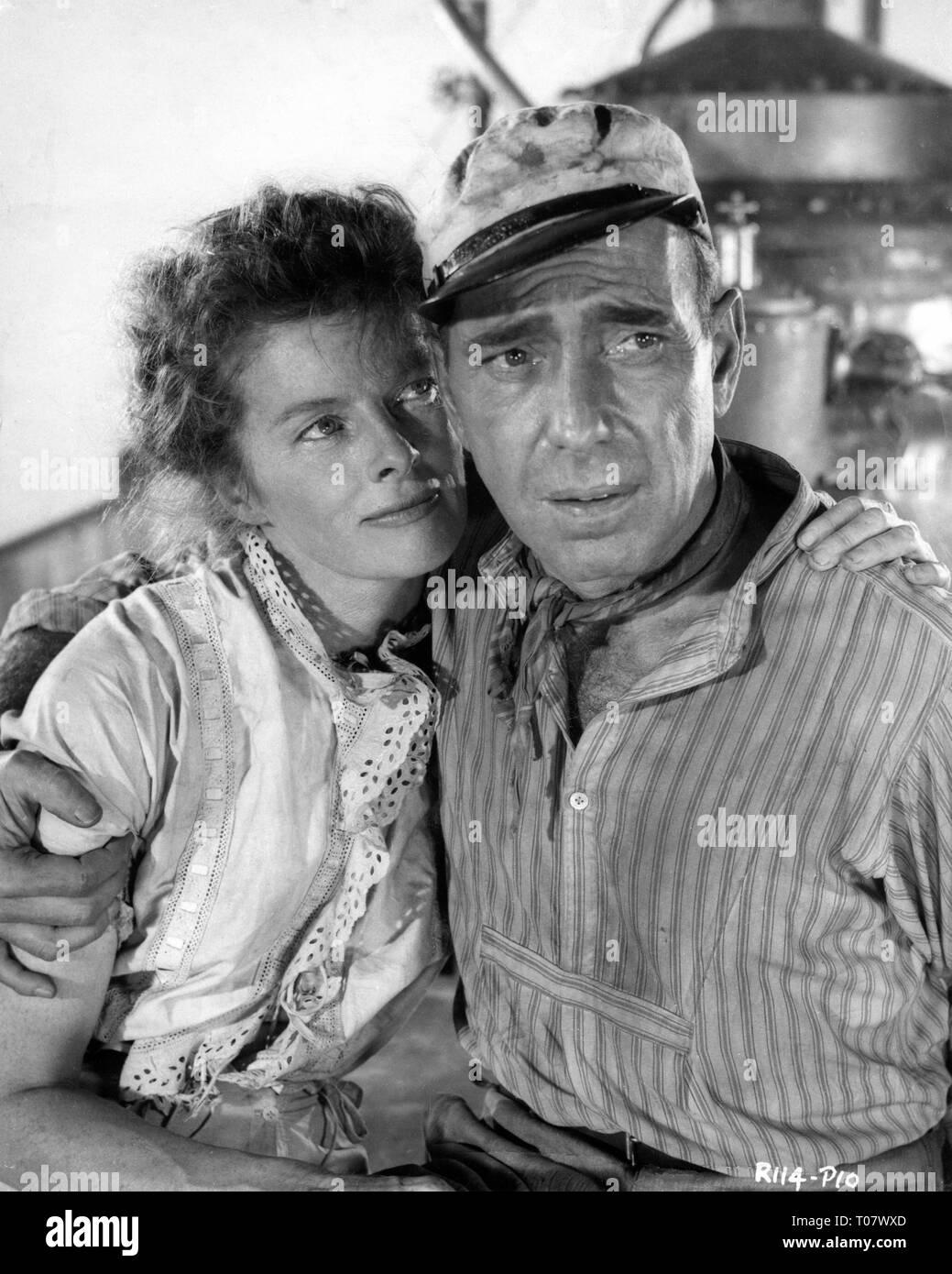 Katharine hepburn humphrey bogart the african queen 1951 director john huston romulus films horizon pictures