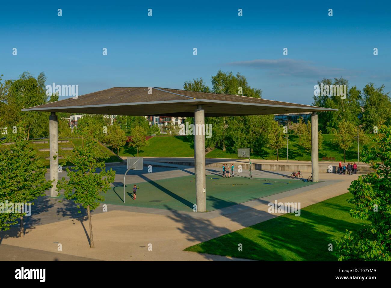 Sportanlage, Biosphaere, Volkspark, Pappelallee, Potsdam, Brandenburg, Deutschland - Stock Image