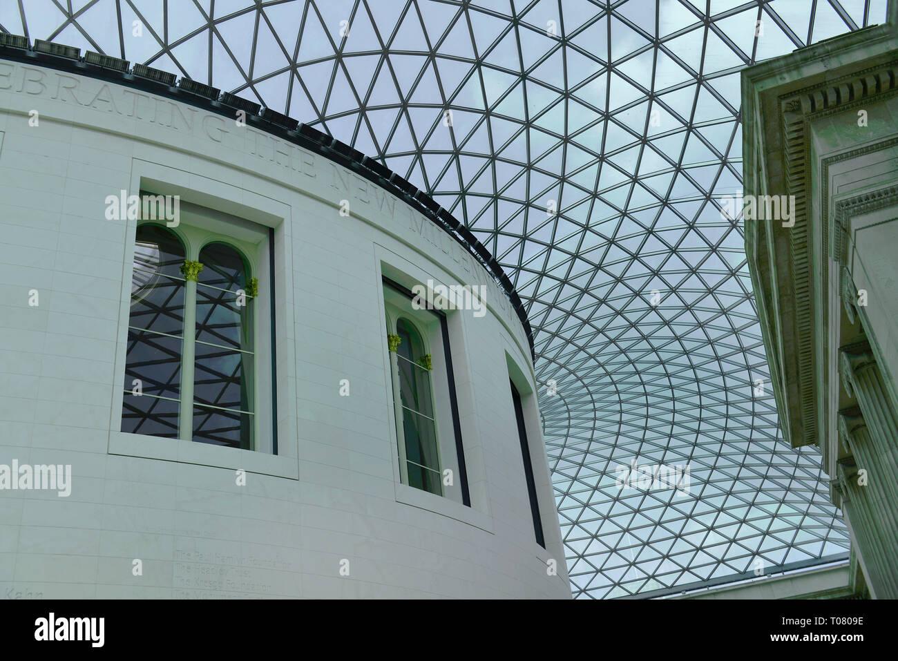 Lichthof, British Museum, Great Russell St, Bloomsbury, London, Grossbritannien Stock Photo