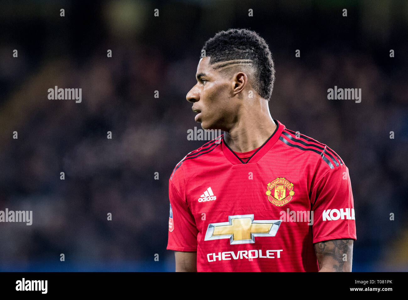 London England February 18 Marcus Rashford Of Manchester United Looks On During The Fa Cup Fifth