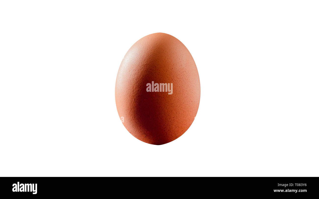 Single vertical chicken egg cut out Stock Photo