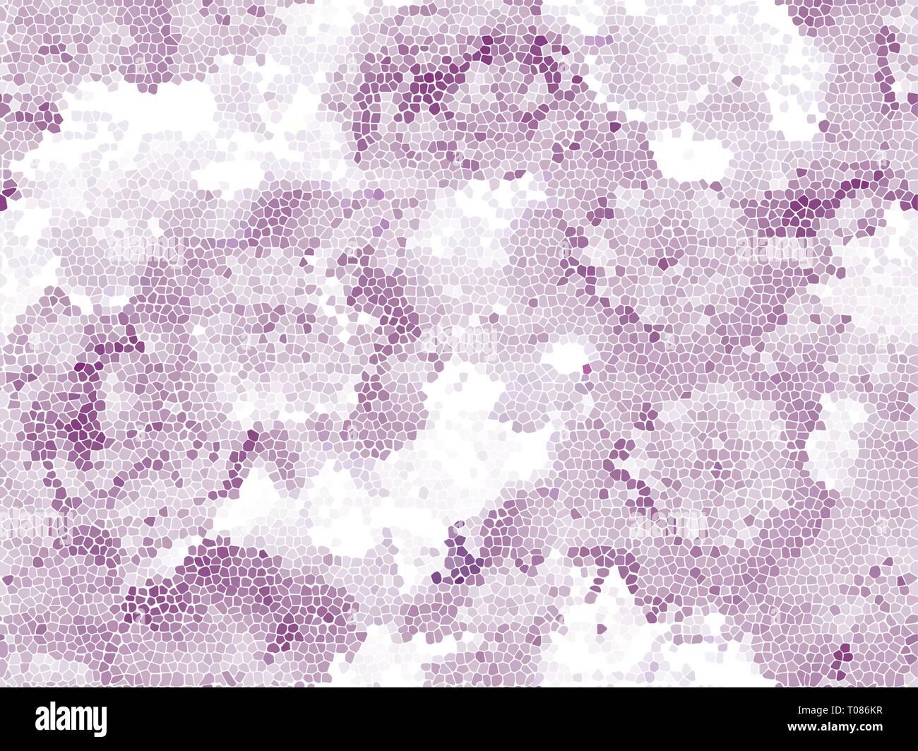 Seamless peony mosaic. Pink flower pattern, pastel colors - Stock Image