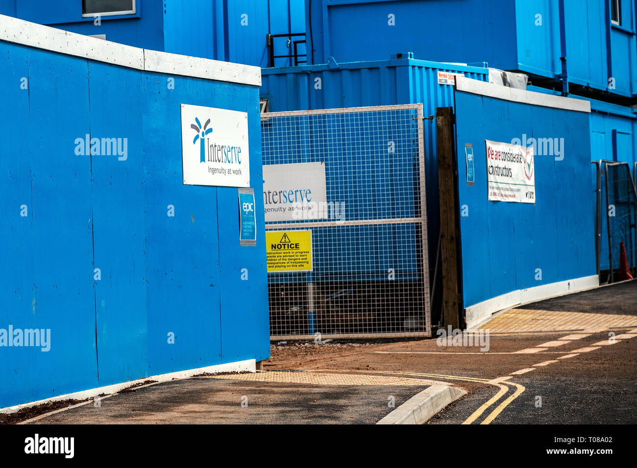 The outsourcing firm Interserve ,The government contractor, public services hospital cleaning ,administration, construction business - Stock Image