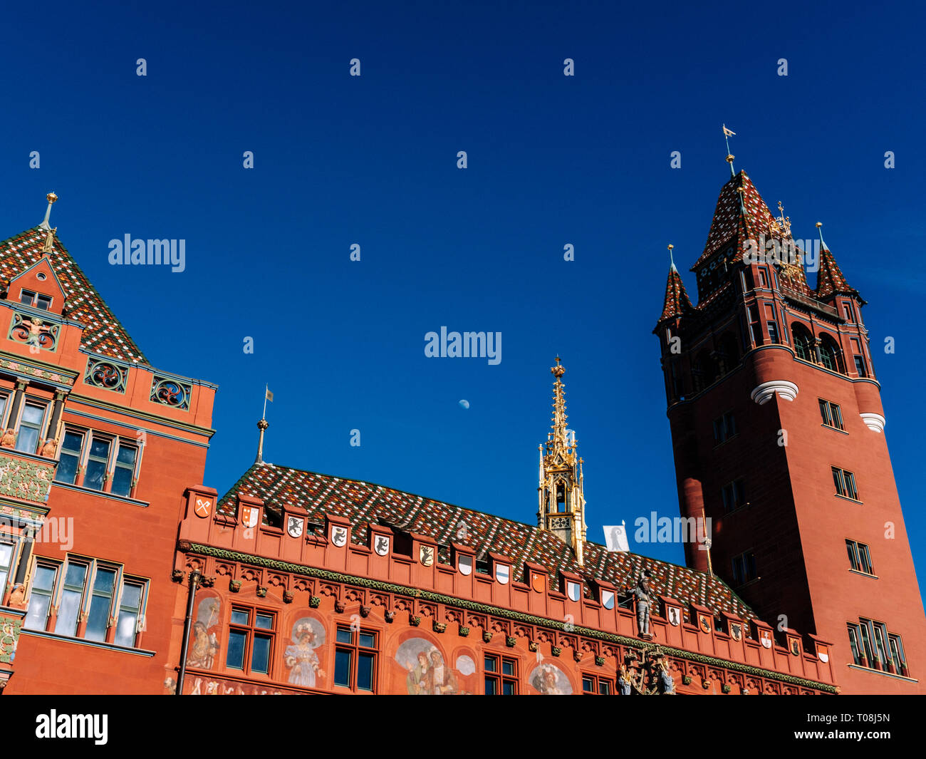 Basel Town Hall - Stock Image