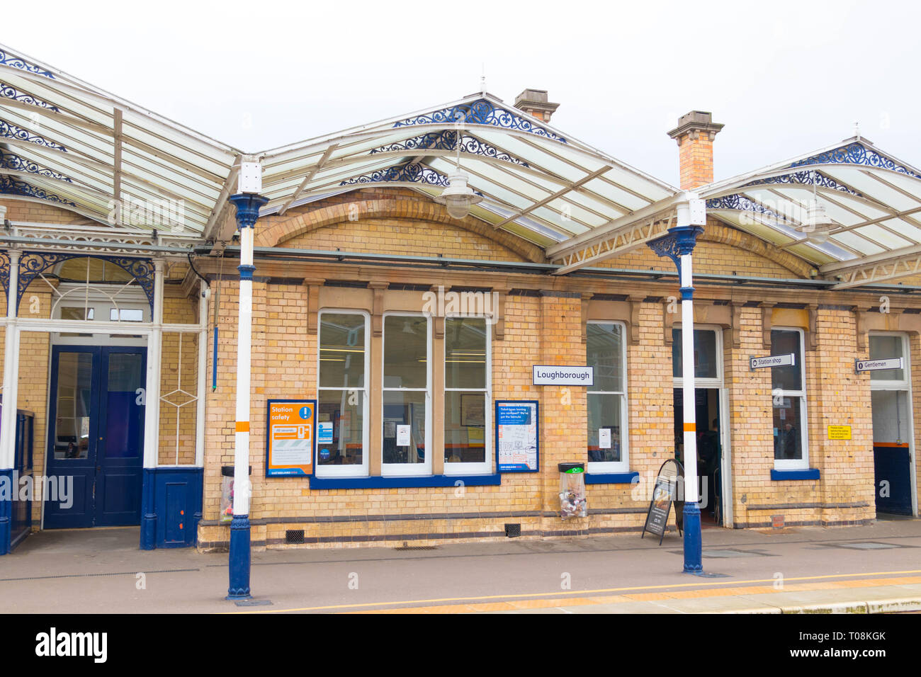 Loughborough train station near Nottingham and Leicester - Stock Image