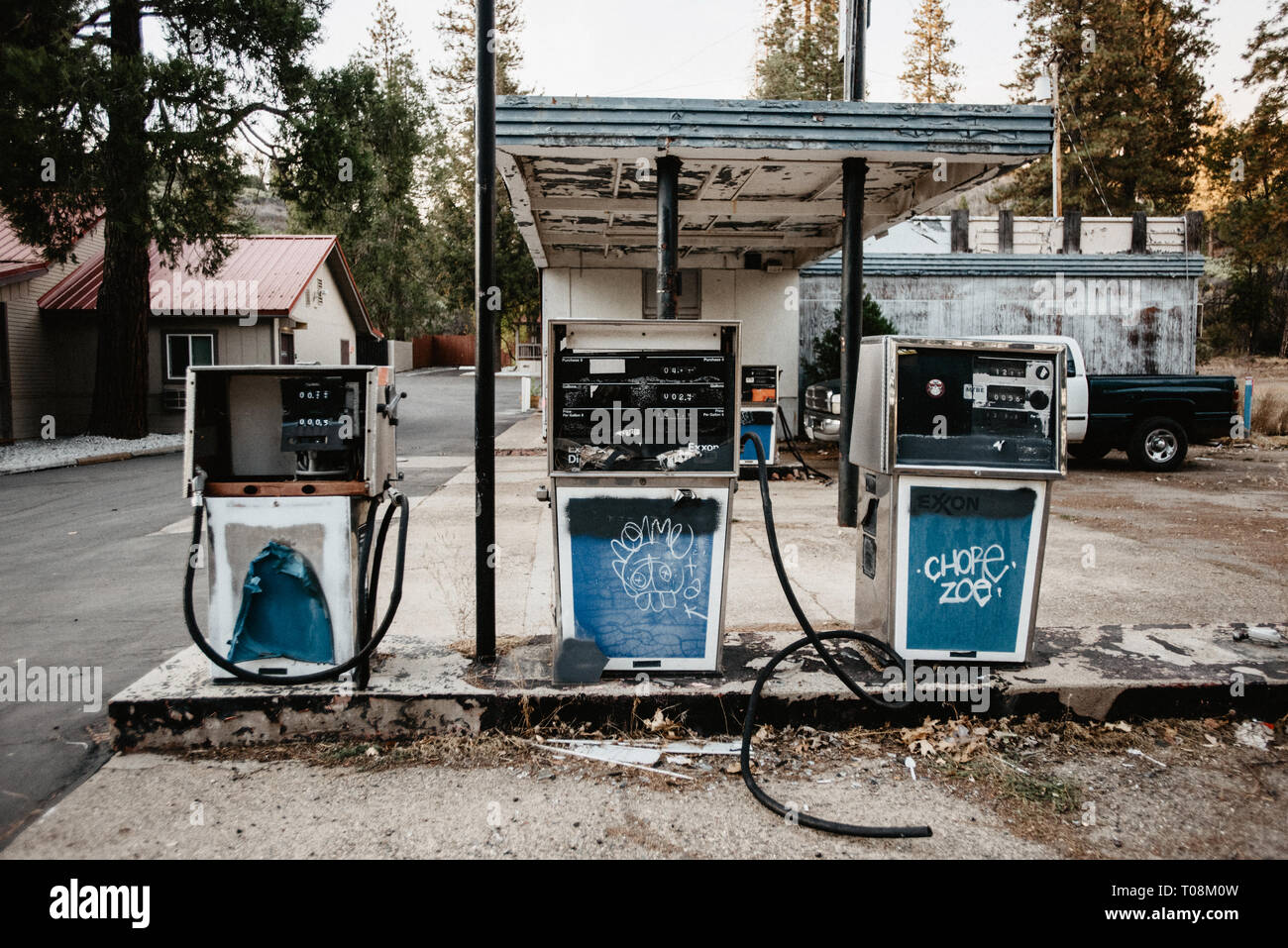 Abandoned Petrol Station High Resolution Stock Photography And Images Alamy
