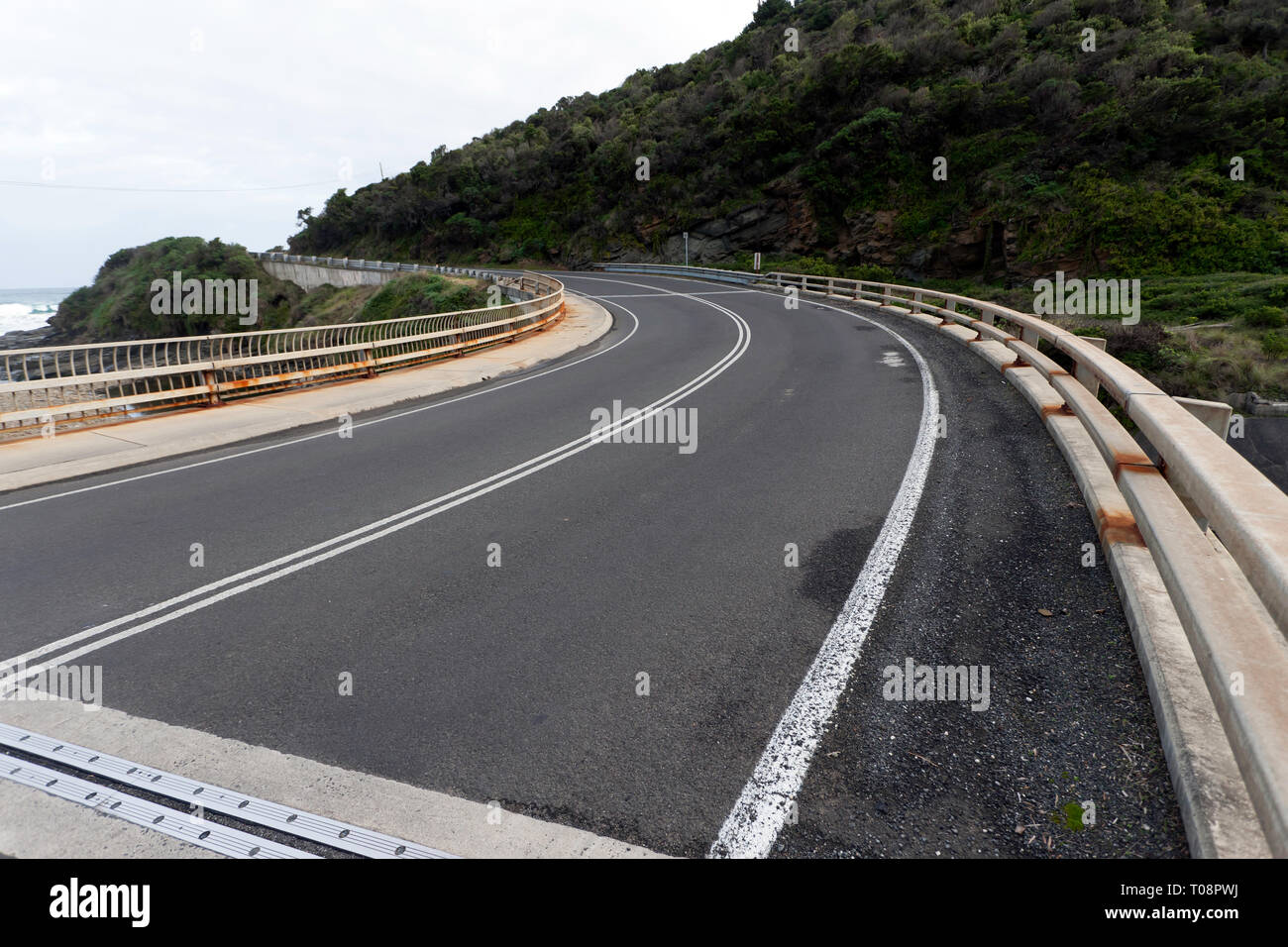 A Section of the Great Ocean Road, Victoria, Australia Stock Photo