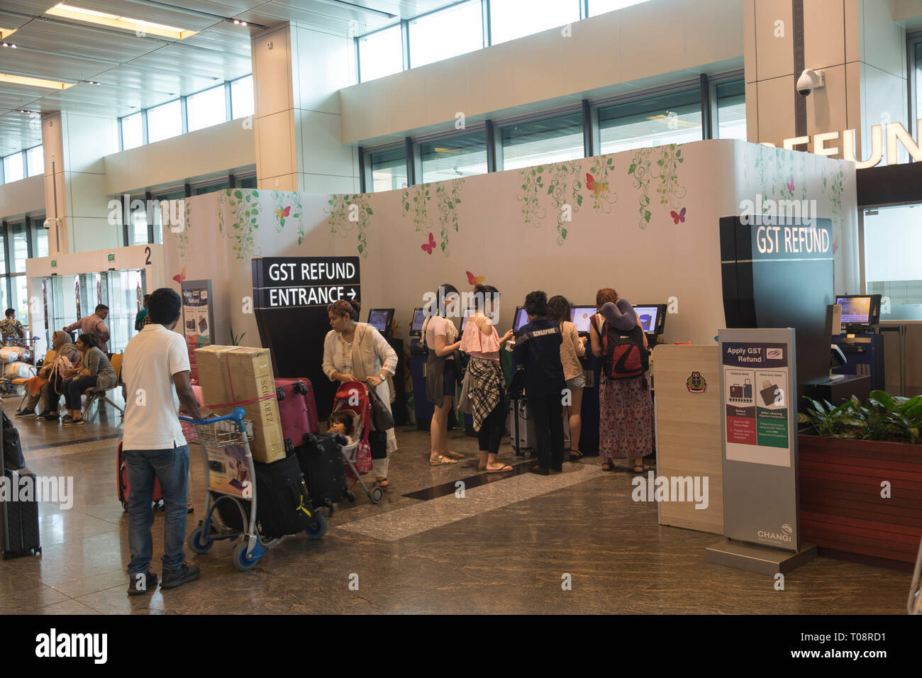 Changi airport in SIngapore - Stock Image
