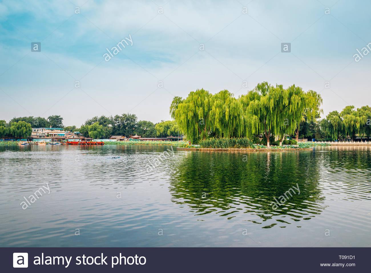 Shichahai Qianhai lake in Beijing, China - Stock Image