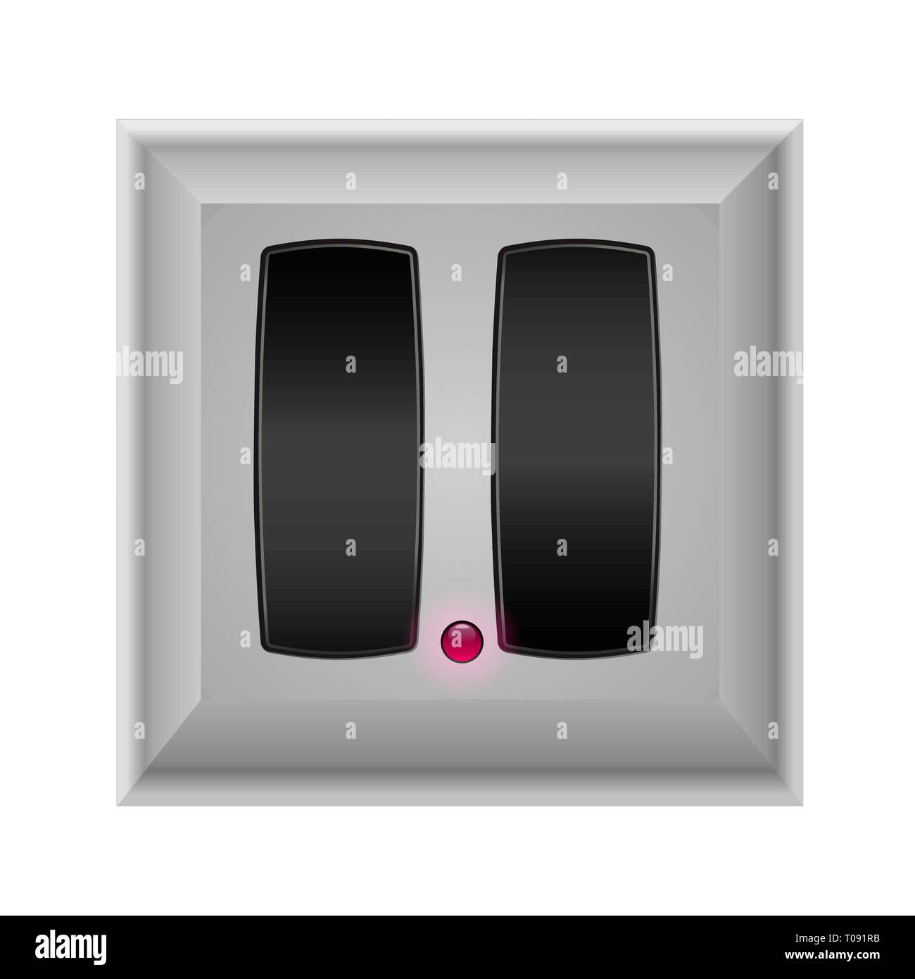 switches in on and off - Stock Vector