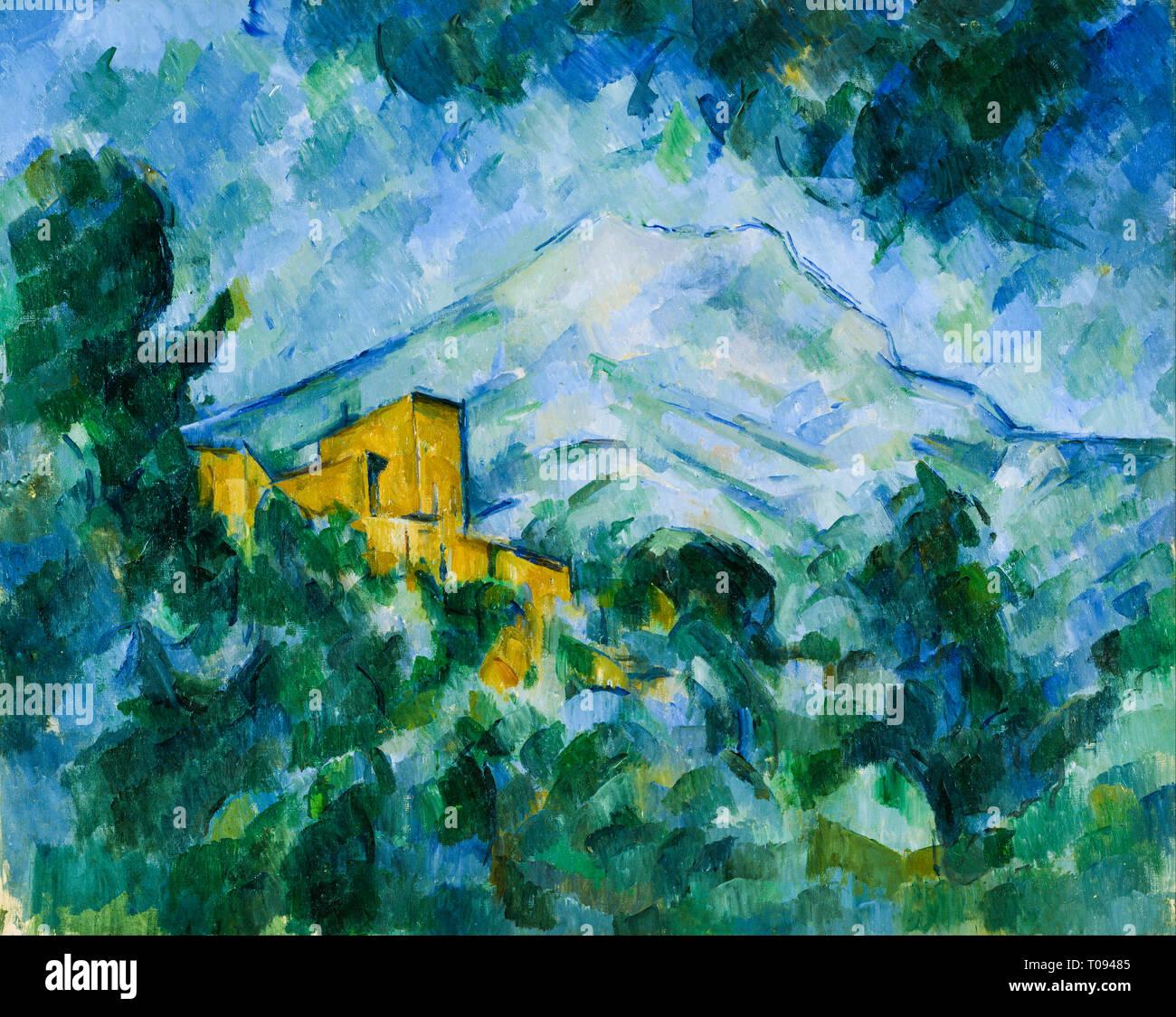 Paul Cézanne, Mont Sainte-Victoire and Château Noir, painting, c. 1904 - Stock Image