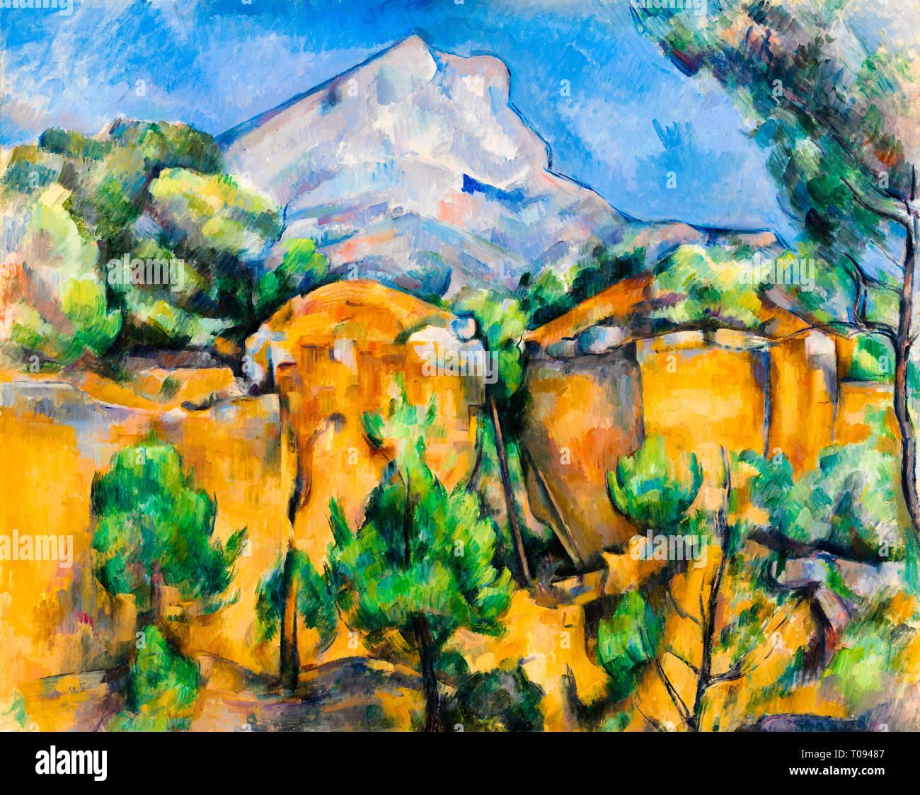 Paul Cézanne, Mont Sainte-Victoire Seen from the Bibémus Quarry, c. 1897 - Stock Image