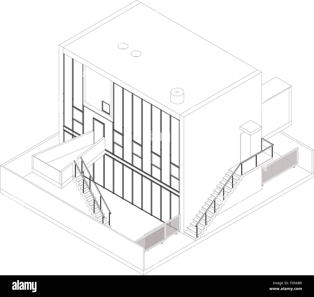 Picture of: Isometric Building Cut Out Stock Images Pictures Alamy