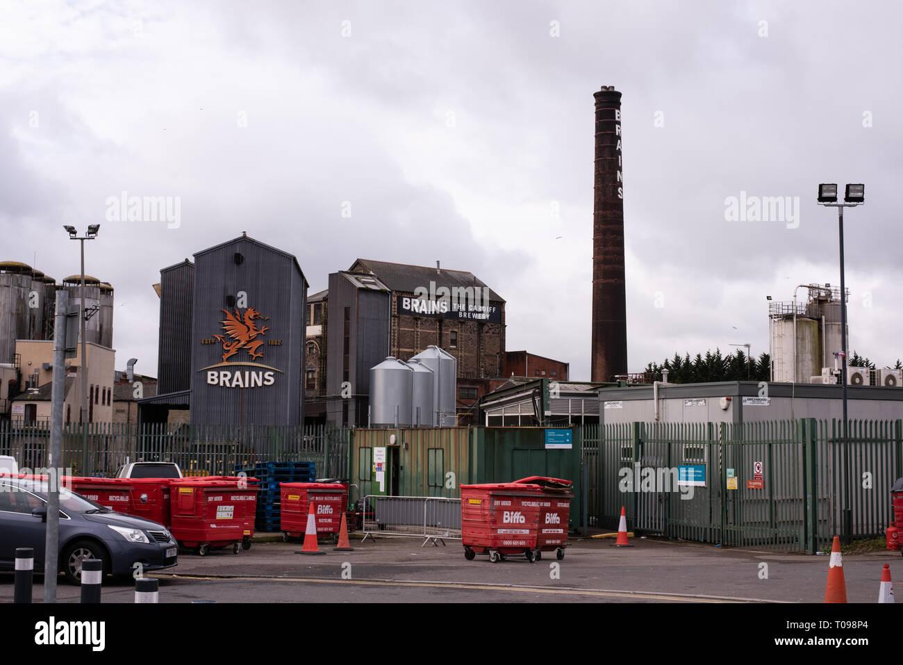 Brains Brewery Crawshay Street Cardiff number 3809 - Stock Image