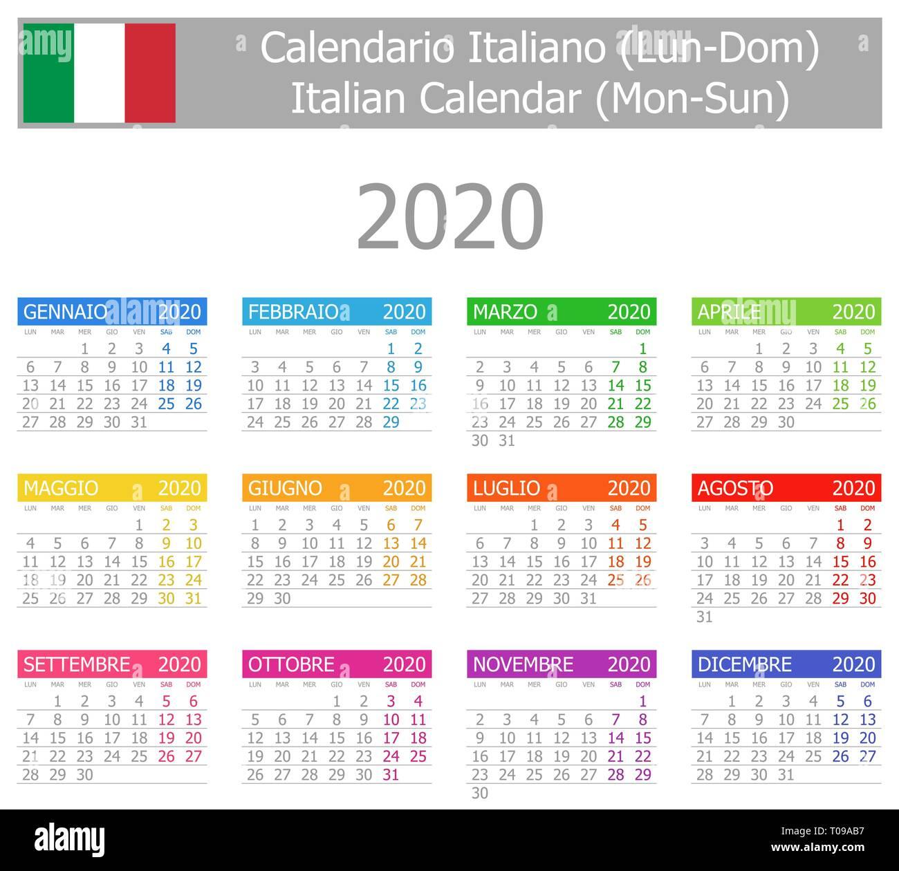 Calendario Agosto 2020.Calendario Vector Vectors Stock Photos Calendario Vector