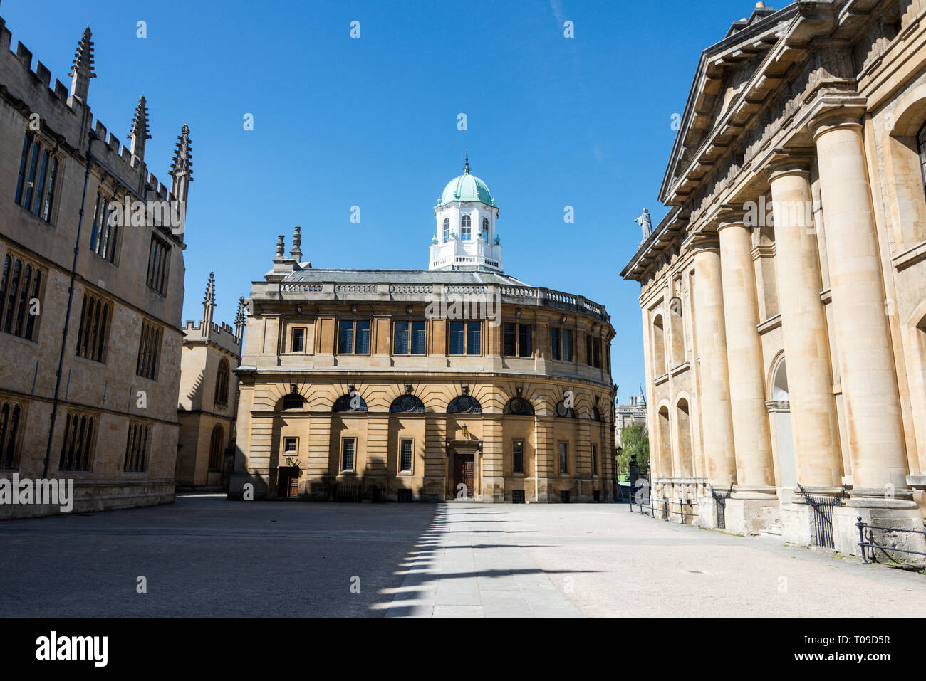 The Sheldonian Theatre with white dome in Oxford, Oxfordshire, Britain Stock Photo