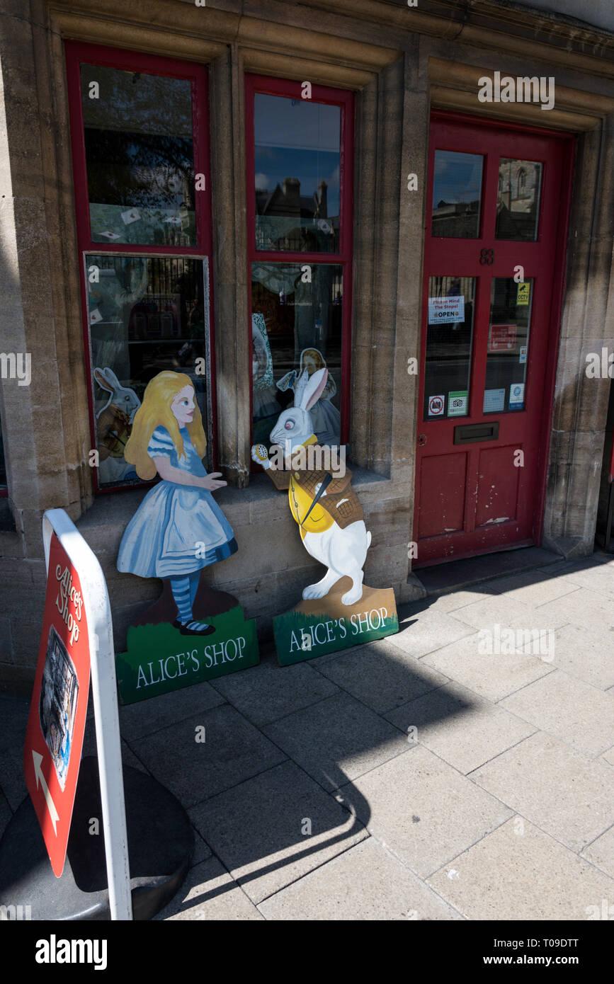 A Alice in Wonderland shop on St. Aldates Street in  Oxford, Oxfordshire,Britain - Stock Image