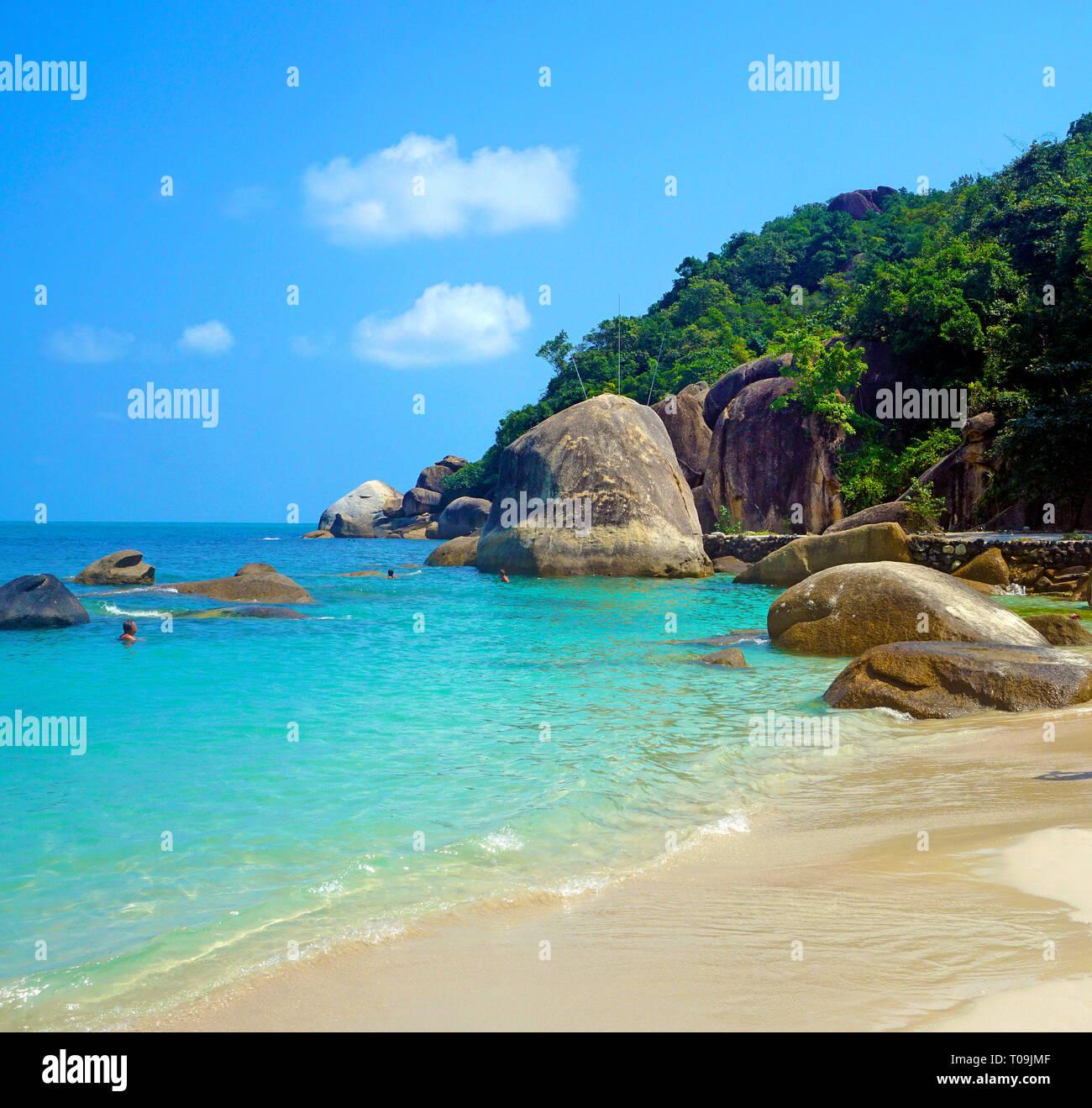 Silver Beach, Chrystal Bay, Koh Samui, Golf von Thailand, Thailand | Silver Beach, Chrystal Bay, Koh Samui, Gulf of Thailand, Thailand - Stock Image