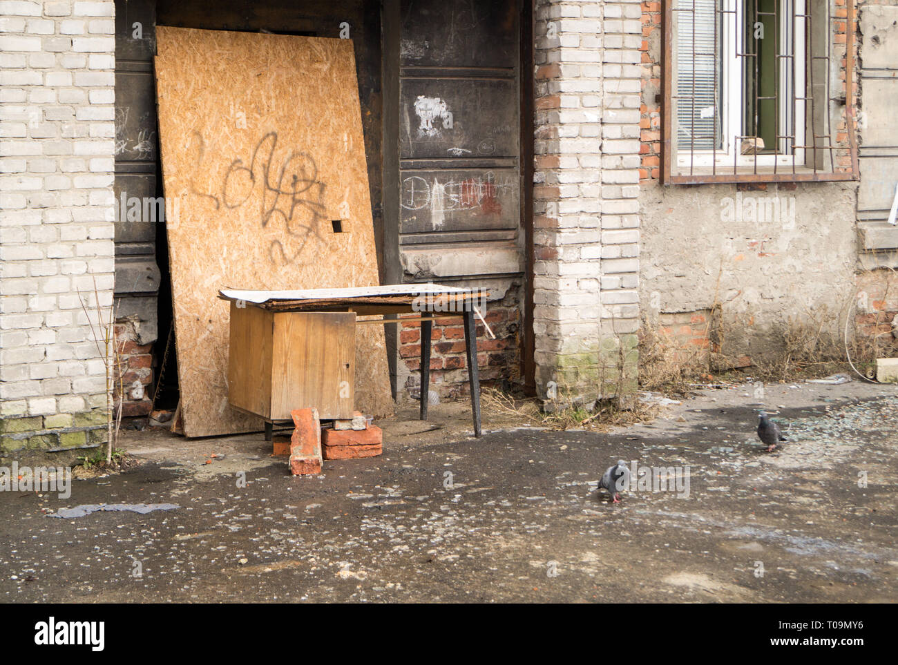Old tenement house - Stock Image