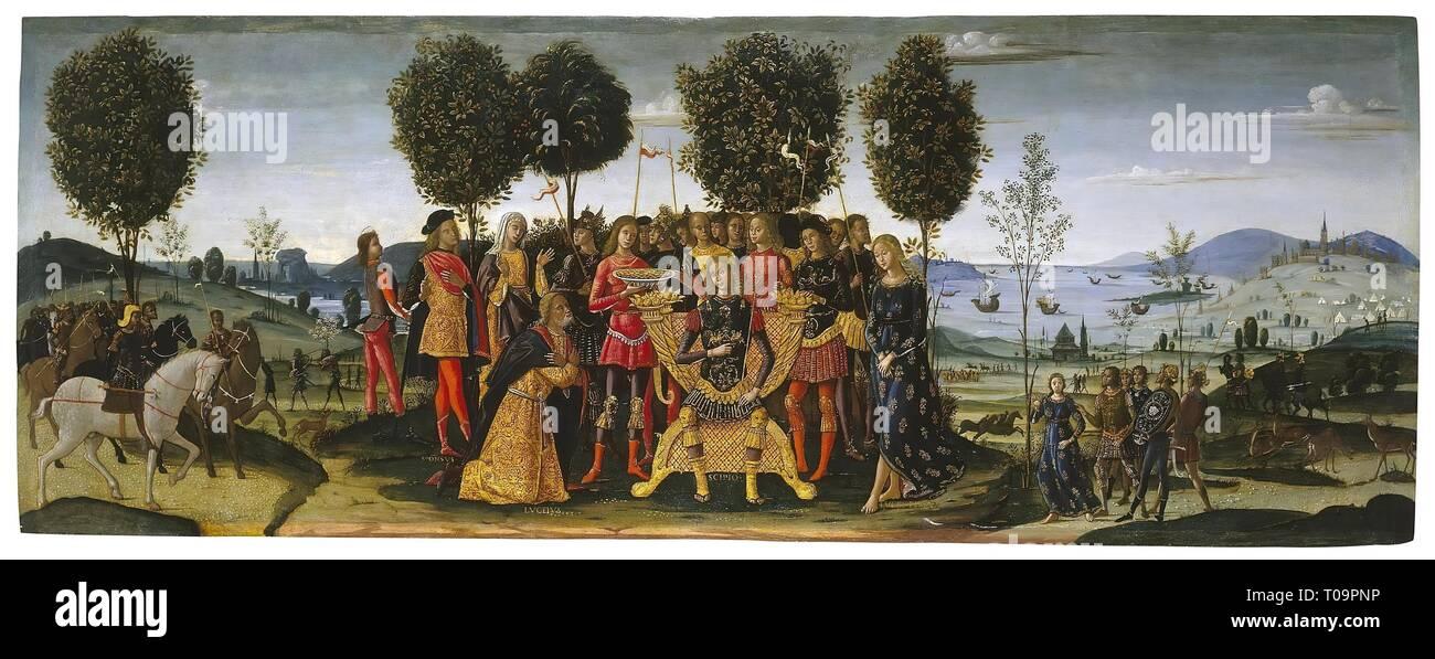 'Magnanimity of Scipio Africanus'. Italy, 1512-1516. Dimensions: 62x166 cm. Museum: State Hermitage, St. Petersburg. Author: BERNARDINO FUNGAI. Stock Photo